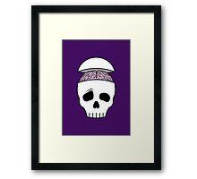 Brainy Skull Framed Print