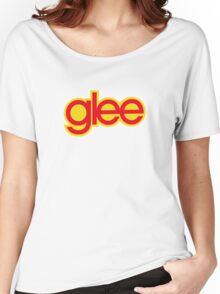 Glee logo - Red and yellow Women's Relaxed Fit T-Shirt