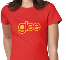 Glee logo - Red and yellow Womens Fitted T-Shirt