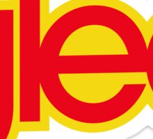 Glee logo - Red and yellow Sticker