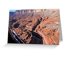 American Desert from Above Greeting Card