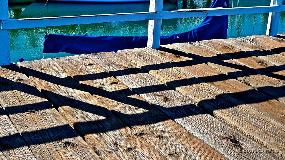 Dock Shadows by Scott Johnson