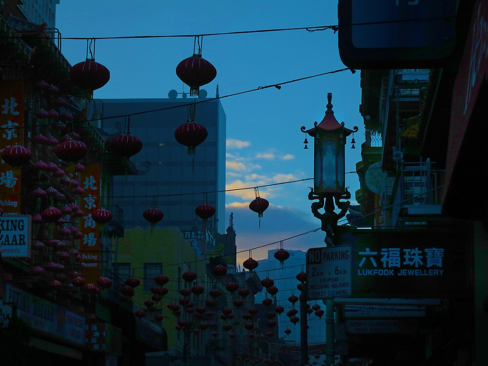 Lantern in Chinatown by David Denny