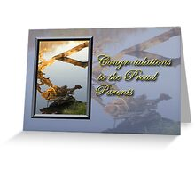 Congratulations To The Proud Parents Fish Greeting Card