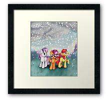 Cutie Mark Crusaders Winter Snow Framed Print