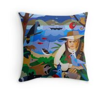 CHARLES DARWIN IN HOBART 1836 Throw Pillow