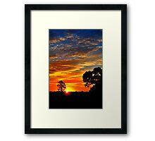 Sunset's Paintbrush Framed Print