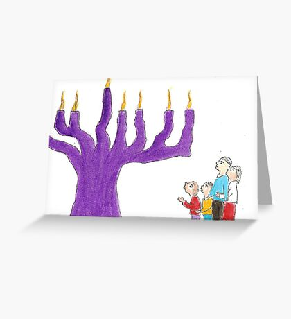 Family and the Miracle of Hanukkah Greeting Card