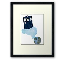 Tardis leaves Earth Framed Print