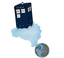 Tardis leaves Earth Photographic Print