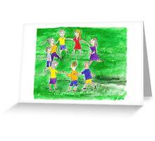 Kids Circle Dance Greeting Card