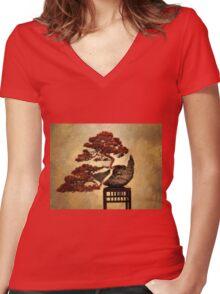 Bonsai Women's Fitted V-Neck T-Shirt