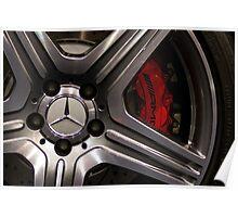 Mercedes SLS AMG GT Wheel Poster