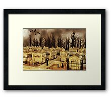 Ritual at The Cemetery Framed Print