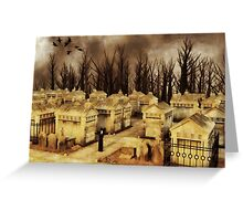 Ritual at The Cemetery Greeting Card