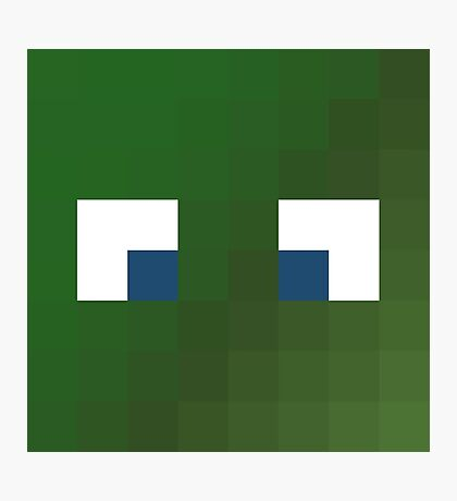 Alsmiffy Minecraft skin - Hatfilms Smith face Photographic Print