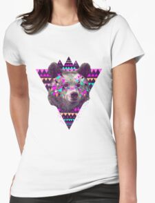 Bear Triangle Womens Fitted T-Shirt