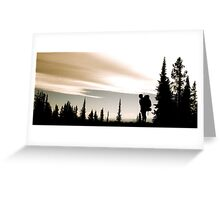 Backpacking in the Pacific Northwest Greeting Card
