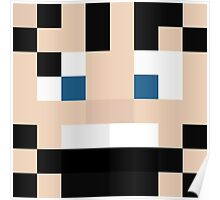 djh3max Minecraft skin - HatFilms Ross face Poster