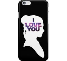 Star Wars Leia 'I Love You' White Silhouette Couple Tee iPhone Case/Skin