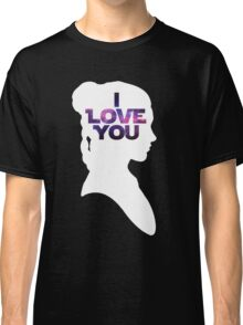 Star Wars Leia 'I Love You' White Silhouette Couple Tee Classic T-Shirt