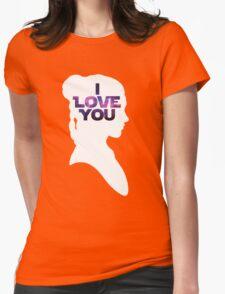 Star Wars Leia 'I Love You' White Silhouette Couple Tee T-Shirt