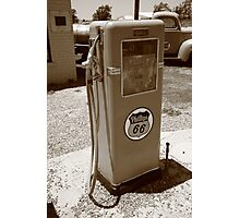 Route 66 Gas Pump Photographic Print