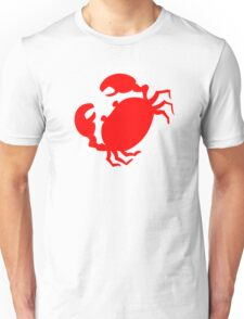 Cute Red Crab Outline Unisex T-Shirt