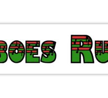 Oboes Rule Green & Red Sticker