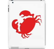 Cute Red Crab Outline iPad Case/Skin