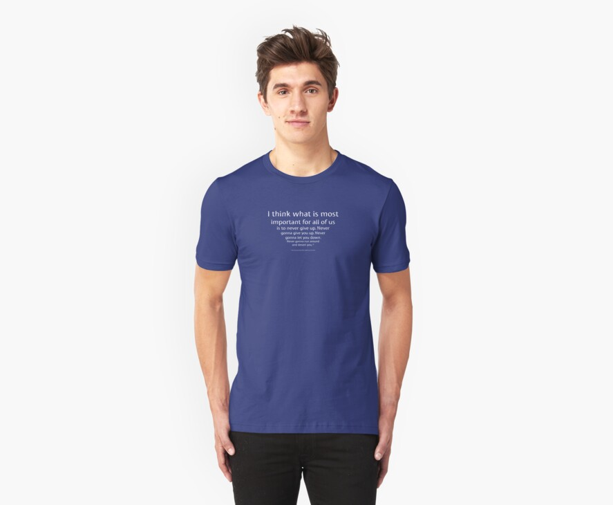Rick-rolled by a tee shirt by TalkyTaco