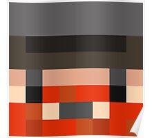 Honeydew Minecraft skin - Yogscast Simon face Poster