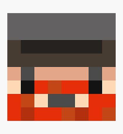 Honeydew Minecraft skin - Yogscast Simon face Photographic Print