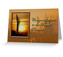 Congratulations To The Proud Parents Sunset Greeting Card