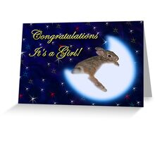 Congratulation's It's A Girl Bunny Rabbit Greeting Card