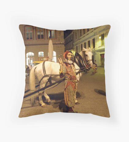 Jester in Latvia Throw Pillow