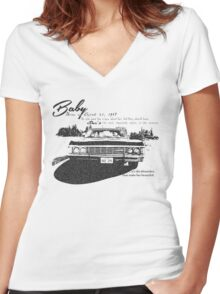 Baby Supernatural 67 Impala Women's Fitted V-Neck T-Shirt