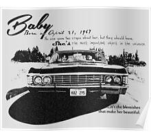 Baby Supernatural 67 Impala Poster