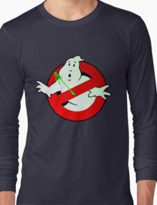 Who Busts The Ghost Busters? (logo) v3 Long Sleeve T-Shirt