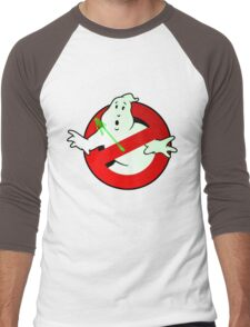 Who Busts The Ghost Busters? (logo) v3 Men's Baseball ¾ T-Shirt