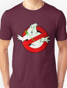 Who Busts The Ghost Busters? (logo) v3 Unisex T-Shirt