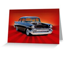 "1957 Chevy ""Post"" Coupe Greeting Card"