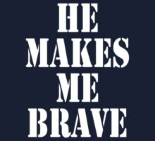 He Makes Me Brave One Piece - Short Sleeve