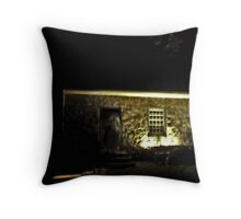 The Witches Stone House, Philipsburg Plantation at Halloween Throw Pillow