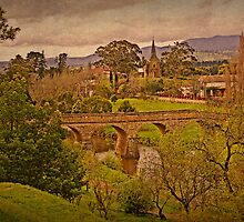 Richmond Historic Village - Bridge and Church View by TonyCrehan