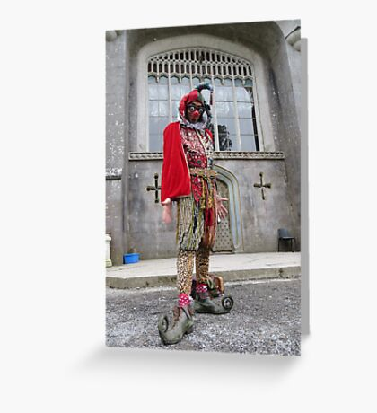 Jester at Castle Greeting Card
