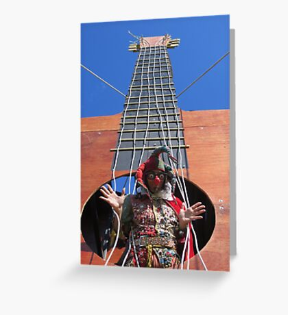 Inside Guitar Greeting Card