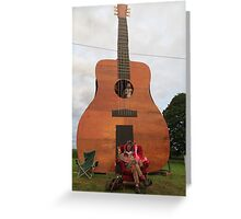 Play the Guitar Greeting Card