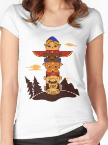 64bit Totem Pole Women's Fitted Scoop T-Shirt