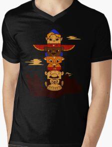 64bit Totem Pole Mens V-Neck T-Shirt